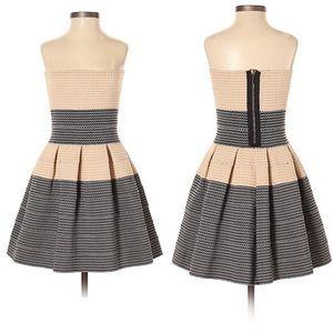 Pleasure Doing Business Dress Small Black Pleated